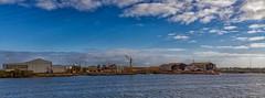 Torrens Island Boat Yards (johnwilliamson4) Tags: blue boatyards industrial sky southaustralia torrensisland water portadelaide adelaide australia