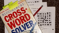 Cross words   (8) (Ben Grader) Tags: puzzle puzzles crossword words write square squares solve book books sony slta77tamron flash ring light minolta