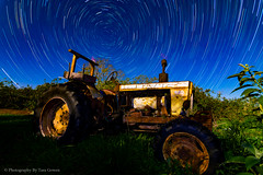 TractorTrails2-2 (Photography By Tara Gowen) Tags: tractor startrails moonlight longexposure nikon australia blue grass light green tokina1116mm tokina eungai nsw rural rustic stars outdoors countrylife nikonaustralia taragowen photographybytaragowen nightscape nightsky nightlights ruralaustralia wideanglelens nswmidnorthcoast coffscoast bluesky night lines sky landscape old rusty