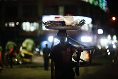 JHALMUREEEE !!!! (N A Y E E M) Tags: vendor chanachur jhalmuri seller snacks portrait candid lastnight street roundabout kazirdewri chittagong bangladesh windshield availablelight bokeh