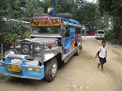 A jeepney at Port Barton, Palawan (omnia2070) Tags: philippines palawan port barton jeepney decorated boy road colourful