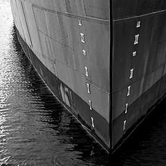 Waterline (Jay:Dee) Tags: bw white black museum ship hamilton navy royal canadian destroyer naval haida hmcs nationalhistoricsite royalcanadiannavy tribalclass g63