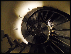 Staircase (Jon 89) Tags: lighting old city uk light shadow red england london english history tourism monument up vertical metal stone wall architecture stairs walking spiral concrete lights climb design photo high interesting memorial glow looking view wind britain walk interior united famous capital great steps perspective descent kingdom down landmark visit scene tourist architectural stairway climbing staircase rails gb british inside winding column tall descend walls christopherwren banister curve narrow height attraction cityoflondon themonument greatfireoflondon spiralling monumentstreet hisotoric