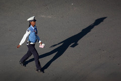 Police officer (ollipitkanen) Tags: blue woman beautiful beauty female long traffic police shade brave straight addisababa officer lawenforcement policeman brisk snell vigorous addisabeba