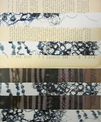 Opposites project - sketchbook work (Chloe Rutherford) Tags: art collage print pages foil text books sketchbook textile stitching photocopied