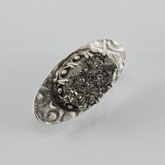 BAD 25/365 (inbarbareket) Tags: brooch jewelry sterlingsilver finesilver etsymetalchallenge etsymetalteam inbarbareket bad25 rawpyrite bad25365