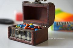 Treasure Box M&M's (Hosam AL-Hwid) Tags: blue red food orange brown color green yellow mms treasure candy box sony delicious sweets a77 hosam alhwid