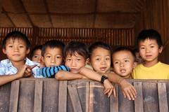 Children (ronniedankelman) Tags: travel school canon children asia burma kinderen myanmar birma azie reizen padainyn