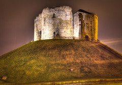 Clifford's Tower, York (steturn) Tags: york light tower grass stone night canon eos path hill steps 7d hdr highdynamicrange cliffords