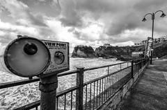 seaview (Jon Sharp) Tags: sea white black clouds nikon cornwall view newquay sigma d7000