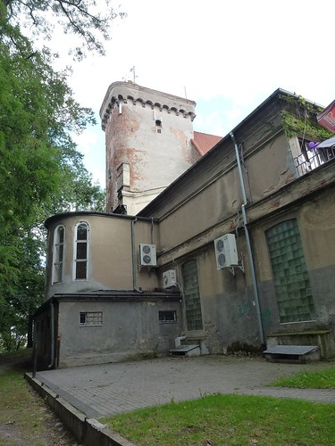 Wieża zamku w Otmuchowie od zachodu