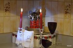 ENTERTAIN (Rebeak) Tags: nikon fork napkins knives dishes spoons entertain glassware flamered rebeak cy365 cupscandleware