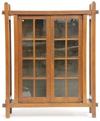 3. Period Arts and Crafts Oak Bookcase