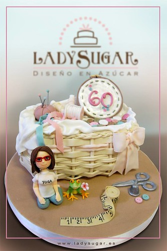Tarta costurero - Sewing wicker basket cake
