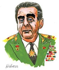 Leonid Brezhnev (Rob Elliott) Tags: russia drawing coldwar sovietunion leonidbrezhnev robelliott funaday swizzlestudio powerportraits