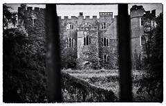Barred from the Abandoned Manor [Explore] (Martyn.Smith.) Tags: bw wales mono vines flickr image decay cymru creepy mansion derelict urbex abandonedmanorhouse