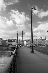 University Bridge (V.Charvet) Tags: bw france lyon du nb quai rousse croix rhone