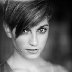 Agnese (Alessio Albi) Tags: portrait white black monochrome eyes nikon 5000 18 85 ritratto d600 5000views 3000v120f 300fav