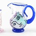 4033. Katherine Bernstein Art Glass Pitcher and Glasses