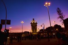 Barcelona. Blue Hour (2).- (ancama_99(toni)) Tags: barcelona city blue light sunset vacation espaa azul sunrise atardecer dawn spain nikon bcn catalonia amanecer hour hora catalunya puestadesol blau vacaciones ocaso barcellona catalua barcelone 18105 catalogne azl 10favs 10faves 2013 d7000 nikond7000
