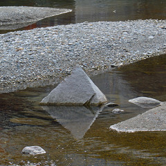 Pyramid (sun sand & sea) Tags: italy abstract water reflections italia pyramid stones fiume pebbles astratto sassi acqua riflessi piramide torrente cannobio ciottoli torrentecannobino