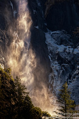 Bridalveil Fall Early Afternoon (Charlotte Hamilton Gibb) Tags: california water waterfall falls yosemite yosemitenationalpark sierranevada yosemitevalley bridalveilfall