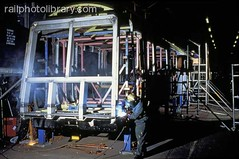 M999-00473 (railphotolibrary.com) Tags: new railroad england english construction europe european britain welding railway worker british making workman assembling welder uk1