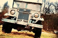 Blue Beast - Ford F-15a CMP (natestation2) Tags: old blue film car truck canon nebraska fuji superia 7 rusted fujifilm 100 40mm elan expired f28 cmp plattsmouth f15a fordf15a