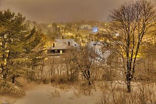 Dexter, Maine after Snowfall