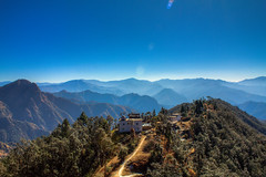 Top of Khirsu, Pauri Gadwal !! (pankaj.anand) Tags: uk blue beautiful landscape hills bluemountain garhwal gadwal pauri uttrakhand khirsu canon550d paurigadwal