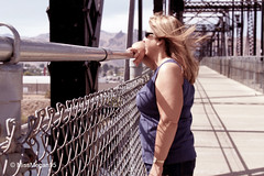 (59/234) Bridge Portrait (MissMegan95) Tags: travel bridge summer portrait woman nature architecture landscape washington focus scenery shadows view state wenatchee edit recolor
