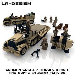 LEGO Custom WW2 CAMO SdKfz 7-1 Minifig (LA-Design2012) Tags: tank lego wwii 7 71 camo german ww2 instructions pdf mm 20 custom xml armored flak 38 panzer moc sdkfz bauanleitung ladesign zugkraftwagen flakvierling