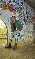 """Underneath the arches................."" 06-03-13 IMGP0294 (Stevecollection2008) Tags: portrait wardroberemix self boots pentax olive bleach location jeans jacket denim bleachers levis docs km bleached ralphlauren flightjacket on topshop 901 midlifecrisis bomberjacket ma1 tkmaxx drmarten dsrl k2000 060313 bouncingsoles wrmx 14hole justpentax yellowlaces topmanbraces drmartenssteeltoe1940zblackfinehaircell denimsupply propertyofralphlauren satinnylon somemoreseriousthanothers"
