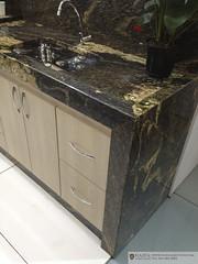 IMG_0529 (Haifa Limestone) Tags: brown black kitchen gold counter sink exotic haifa onyx semiprecious veined
