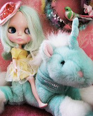 My Other Ride is a Rocket Ship (so charmed) Tags: cindy stuffed bloom blythe unicorn jodi diorama charmed sowers