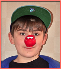 It's '' Red Nose Day 2013 '' (littlestschnauzer) Tags: charity uk school red money home face cake fun nose march nikon funny comic day dinosaur luke son 11 before rubber relief event aid abroad theme childrens noses selling 15th kms raising 2013 d5000 elementsorganizer11 1532013