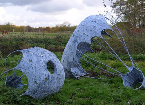 The National Memorial Arboretum - sculpture near the river