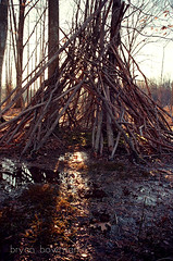 witch hut (BryanBowman) Tags: film forest 35mm photography teepee