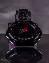 Box1 (WingnutPhotography) Tags: light reflection canon studio background 100mm casio 7d f28 gshock interfit