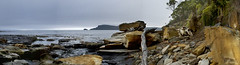 Rugged Coastline (edwinemmerick) Tags: ocean sea sky panorama seascape weather landscape island coast nikon rocks shoreline australia shore tasmania coastline tassie brunyisland edwin bruny d60 emmerick edwinemmerick