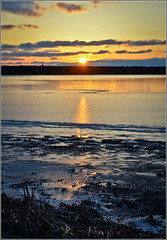 The Dying Day (DanCog) Tags: winter sunset sun ice river frozen buffalo