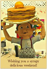 I flipped when I saw him! (colorfulexpressions) Tags: sculpture pancakes 6ws sixwordstory syrup playful quotation artstudio lrp wcfields cartooney colorfulexpressions takenthroughadoorwindow