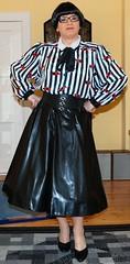 Birgit014002 (Birgit Bach) Tags: shiny petticoat pvc glnzend fullskirt matrone governess bowblouse glockenrock schleifenbluse