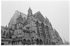 rose window (jj birder) Tags: york blackandwhite bw film fog 35mm yorkshire contax minster aria