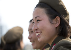Smiling Female Soldier In Tower Of The Juche Idea, Pyongyang, North Korea (Eric Lafforgue) Tags: people color colour beauty smile smiling horizontal asian soldier army women war uniform asia day military authority profile womanonly korea asie coree oneperson armedforces northkorea onepeople 20s humaninterest pyongyang headandshoulders dprk coreadelnorte capitalcities onewomanonly northkorean nordkorea 1people democraticpeoplesrepublicofkorea 북한 onlywomen armysoldier 北朝鮮 корея coreadelnord 조선민주주의인민공화국 северная insidenorthkorea 朝鮮民主主義人民共和国 rpdc soldierarmy βόρεια coreiadonorte เกาหลีเหนือ eti6298