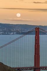 Let The Bridges Burn (Todd Sipes) Tags: sanfrancisco sunset moon landscape goldengatebridge moonrise headlands toddsipes