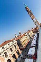 piazza dei signori  e torre Bissara- vicenza - veneto -italy (Fon-tina) Tags: city sky people italy men window bicycle horizontal architecture circle square outdoors photography chair women europe italia day torre adult furniture balcony seat parking citylife wideangle persone finestra cielo transportation donne column piazza fotografia shape groupofpeople statua sedia architettura adultsonly vicenza cerchio citt forma colonna balcone bicicletta uomini giorno veneto mobilio adulto modeoftransport buildingexterior parcheggiare colourimage mezzoditrasporto postoasedere vitacittadina builtstructure bissara mediumgroupofpeople gruppodipersone ambientazioneesterna soloadulti composizioneorizzontale immagineacolori esternodiunedificio tipoditrasporto europacontinente strutturaedile gruppomediodipersone
