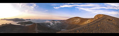 The Eolian islands from the top of Vulcano. (Giuseppe Suaria) Tags: panorama landscape island volcano islands vulcan vulcano eolie isola isole eolian