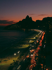 Ipanema (lulu.werner) Tags: ipanema brazil dusk street lights beach
