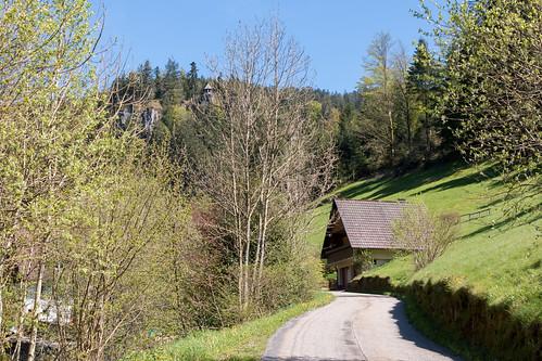 Le rocher Burgbach à Bad Rippoldsau